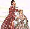 Past Pattern 1850s- 1863 Dart Fitted Bodice Sewing Pattern